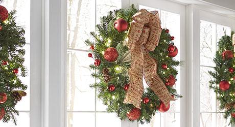 Artificial Wreaths & Garland