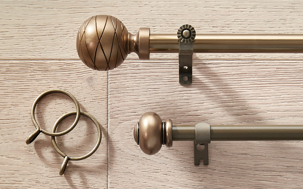 Various curtain rod accessories