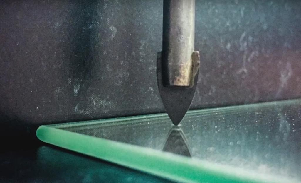 A glass drill bit.