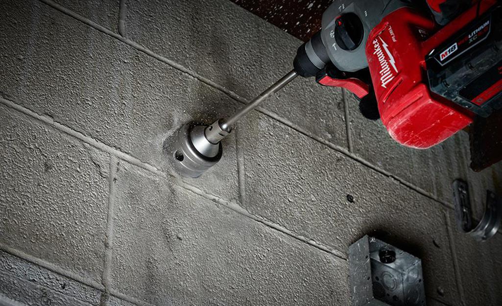 A coring drill bit.