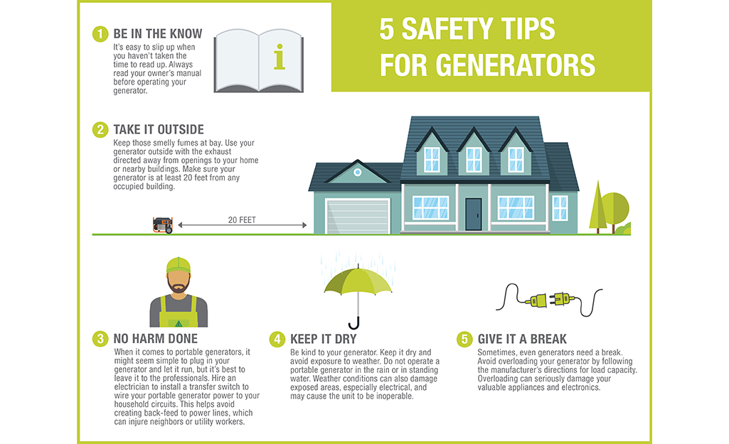 Five safety tips for generators.