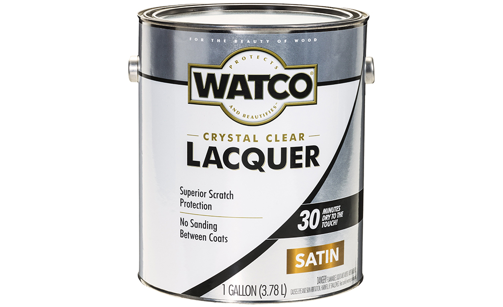 A can of lacquer on a white background.