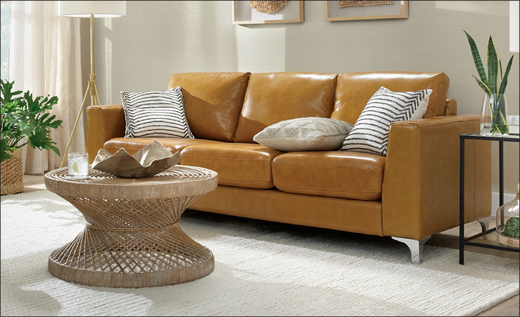 Types Of Leather For Furniture The Home Depot