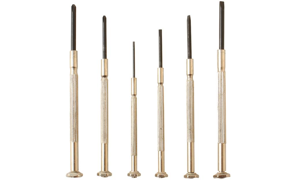 A set of screwdrivers designed for precision work.