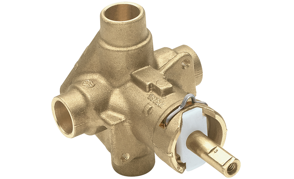 An example of a shower pressure balancing valve.