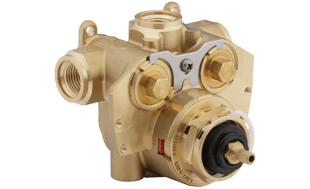 An example of a shower thermostatic valve.