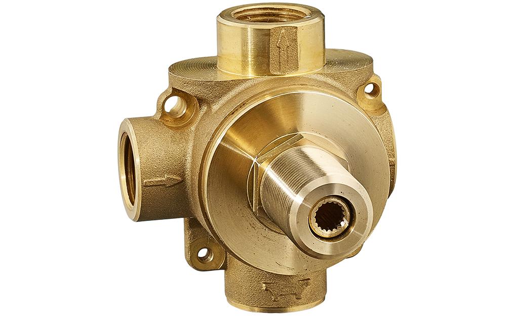 An example of a shower diverter valve.