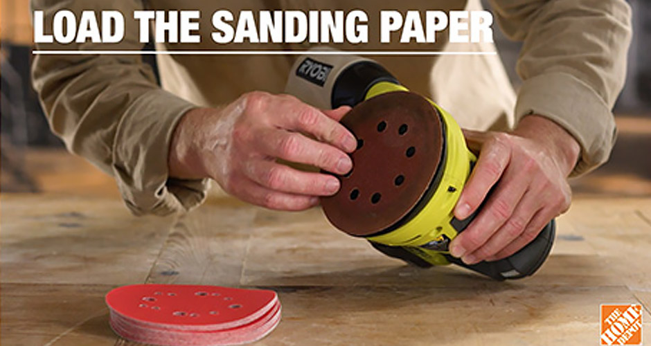 How to load sandpaper