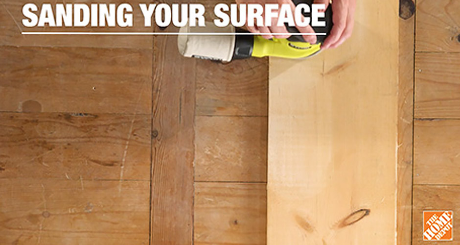 How to sand the surface with a sander