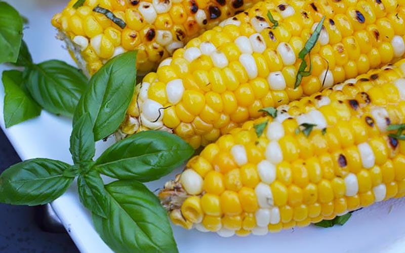 Grill-Roasted Corn with Parmesan Chive Butter Recipe
