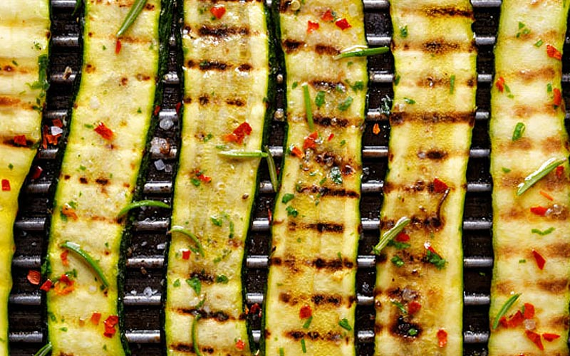 Grilled Zucchini Strips with Italian Dressing Recipe