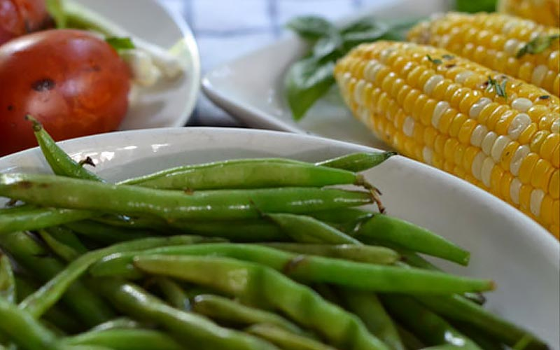 Grilled Green Beans with Olive Oil and Lemon Recipe