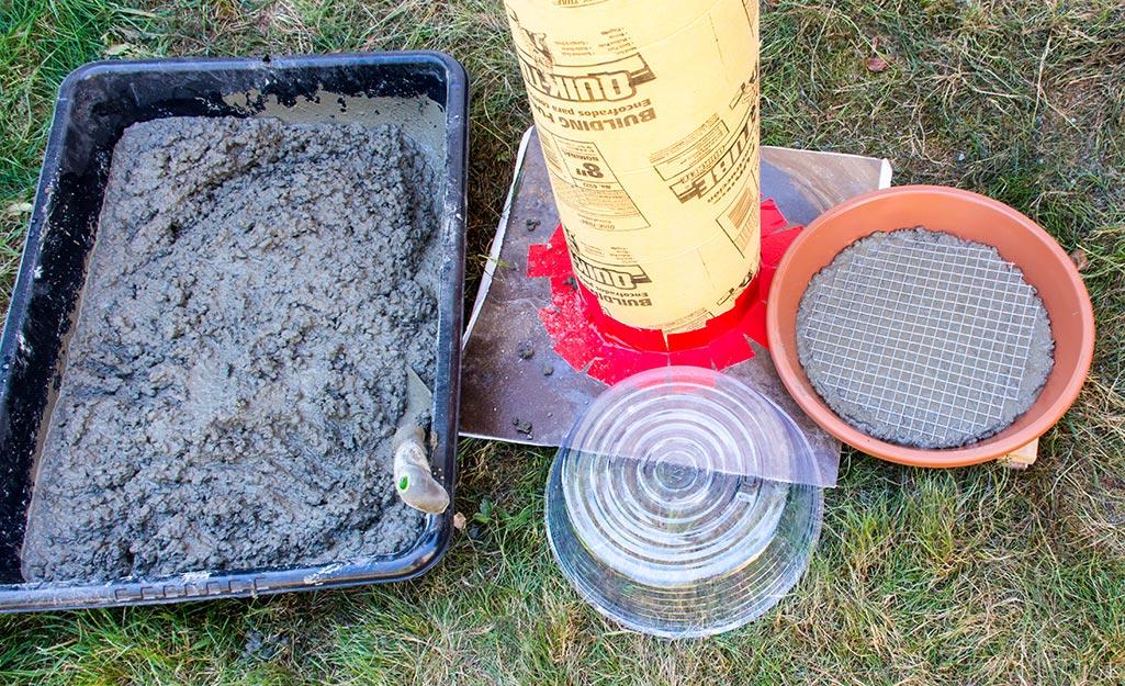Pour Concrete for the Bath