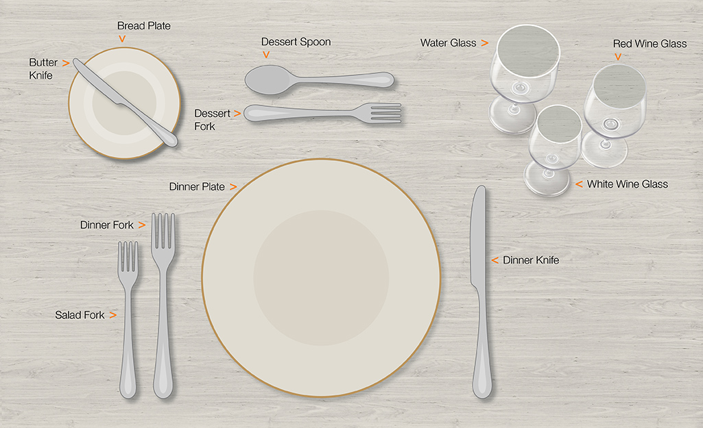 Formal table setting for your main course.