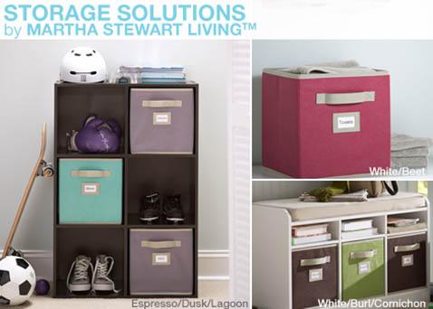 Storage solutions by martha stewart