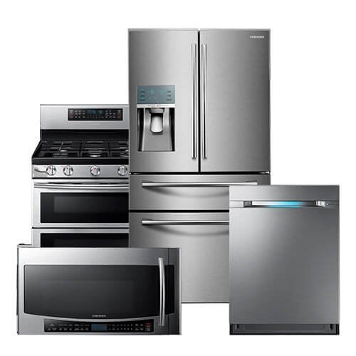 Samsung French Door Stainless Steel Suite Refrigerator Dishwasher Microwave