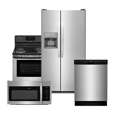frigidaire stainless steel refrigerator 4 piece package kitchen appliance packages   the home depot  rh   homedepot com