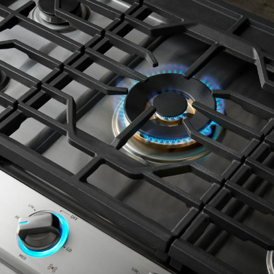 Cooktops with Continuous Grates