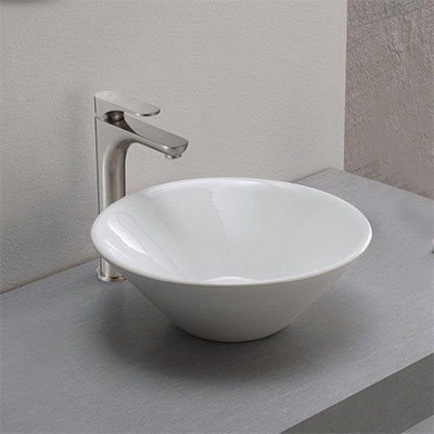 Vessel bathroom sink faucets