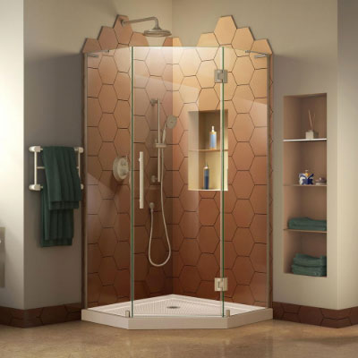 Showers Shower Doors At The Home Depot Awesome Bathroom Partition Glass Plans