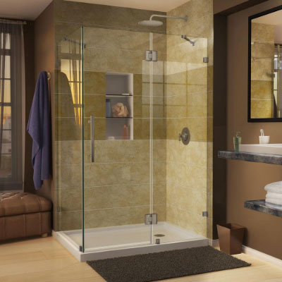 Showers shower doors at the home depot for Bathroom designs drawing