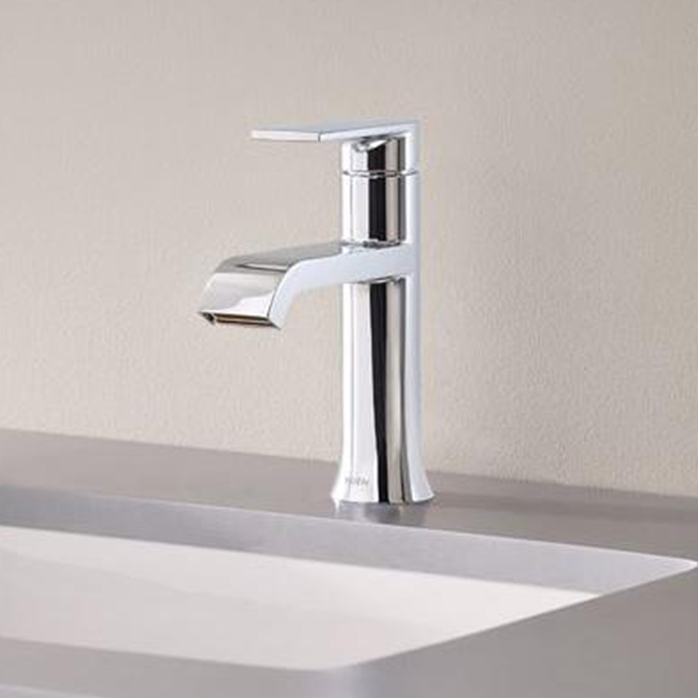 lever waterfall sink chrome kitchen stone steelsink elite design faucet vessel finish single sinks faucets product bathroom stainless info