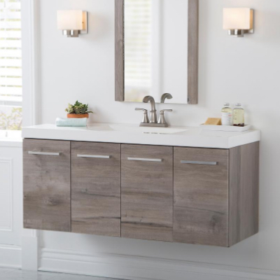 Contemporary Bathroom Vanity Cabinet Decoration