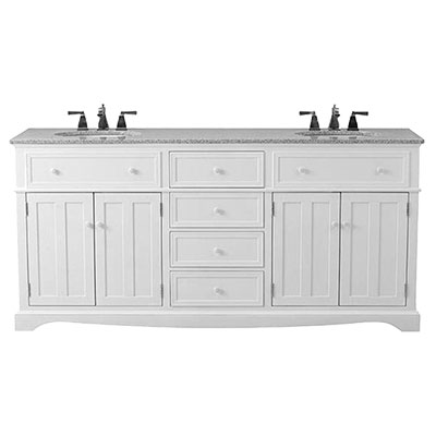 Modest White Bathroom Vanities Decor