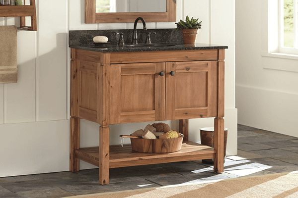 Rustic Bathroom Vanities & Shop Bathroom Vanities u0026 Vanity Cabinets at The Home Depot