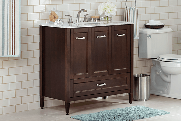 traditional bathroom cabinets shop bathroom vanities amp vanity cabinets at the home depot 27277