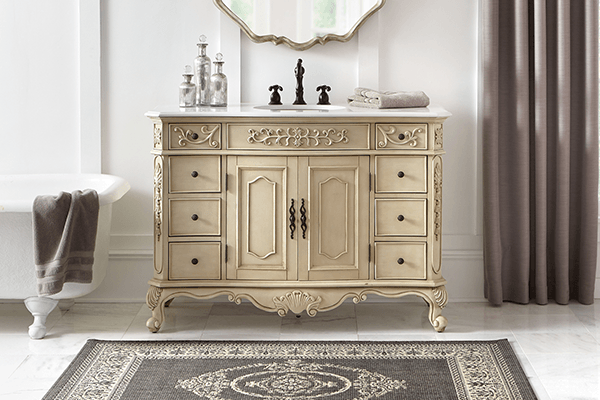 antique bathroom cabinets shop bathroom vanities amp vanity cabinets at the home depot 10615