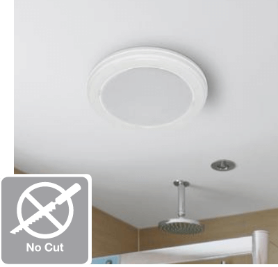 no cut easy diy bath fan install bathroom exhaust fans