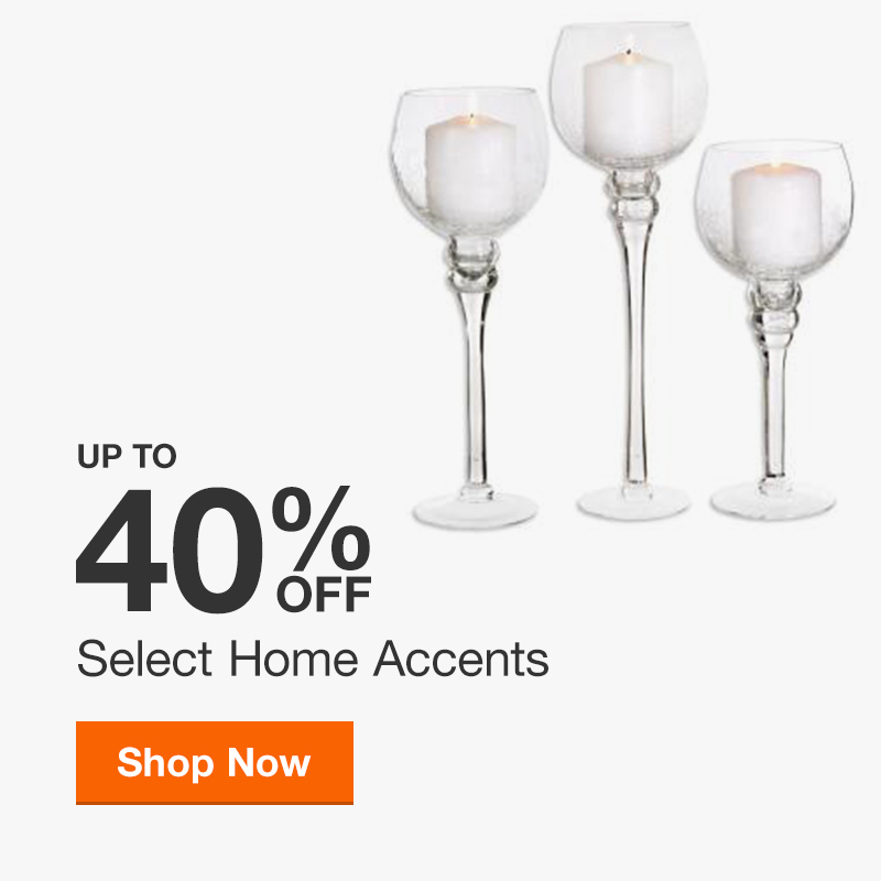Up to 40% off Select Home Accents