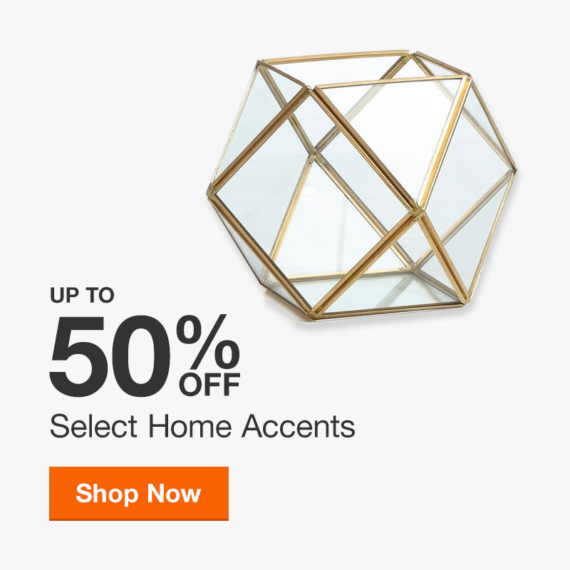 Up to 50% off Select Home Accents