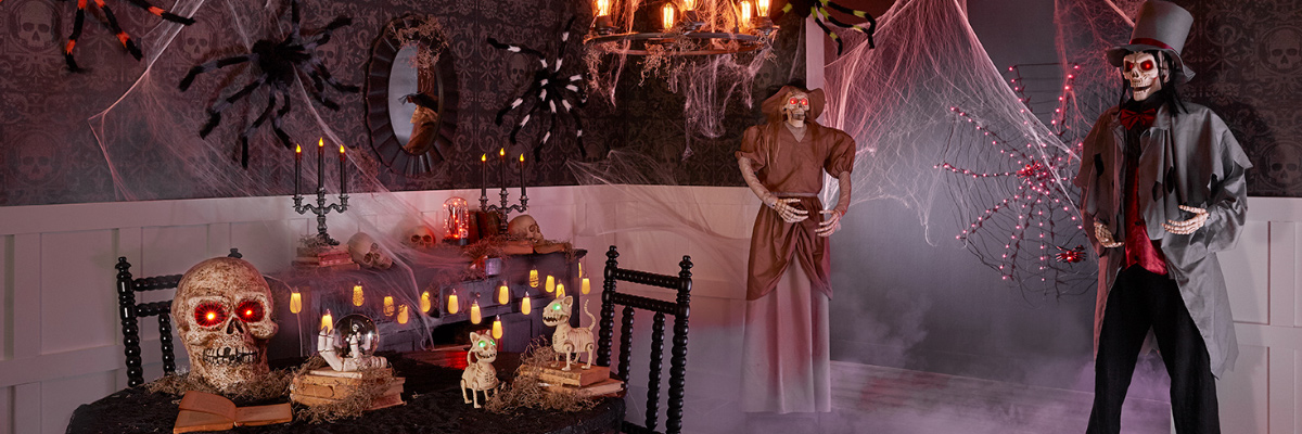 creepy halloween haunted house party decorations
