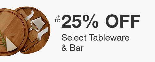 Up to 25% off Select Tableware