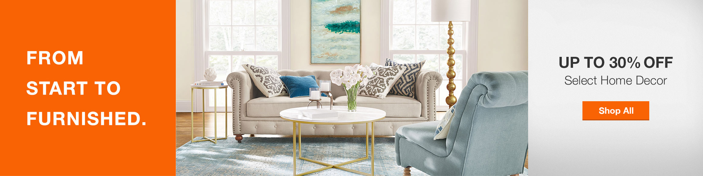 Up to 30% Off Select Home Decor