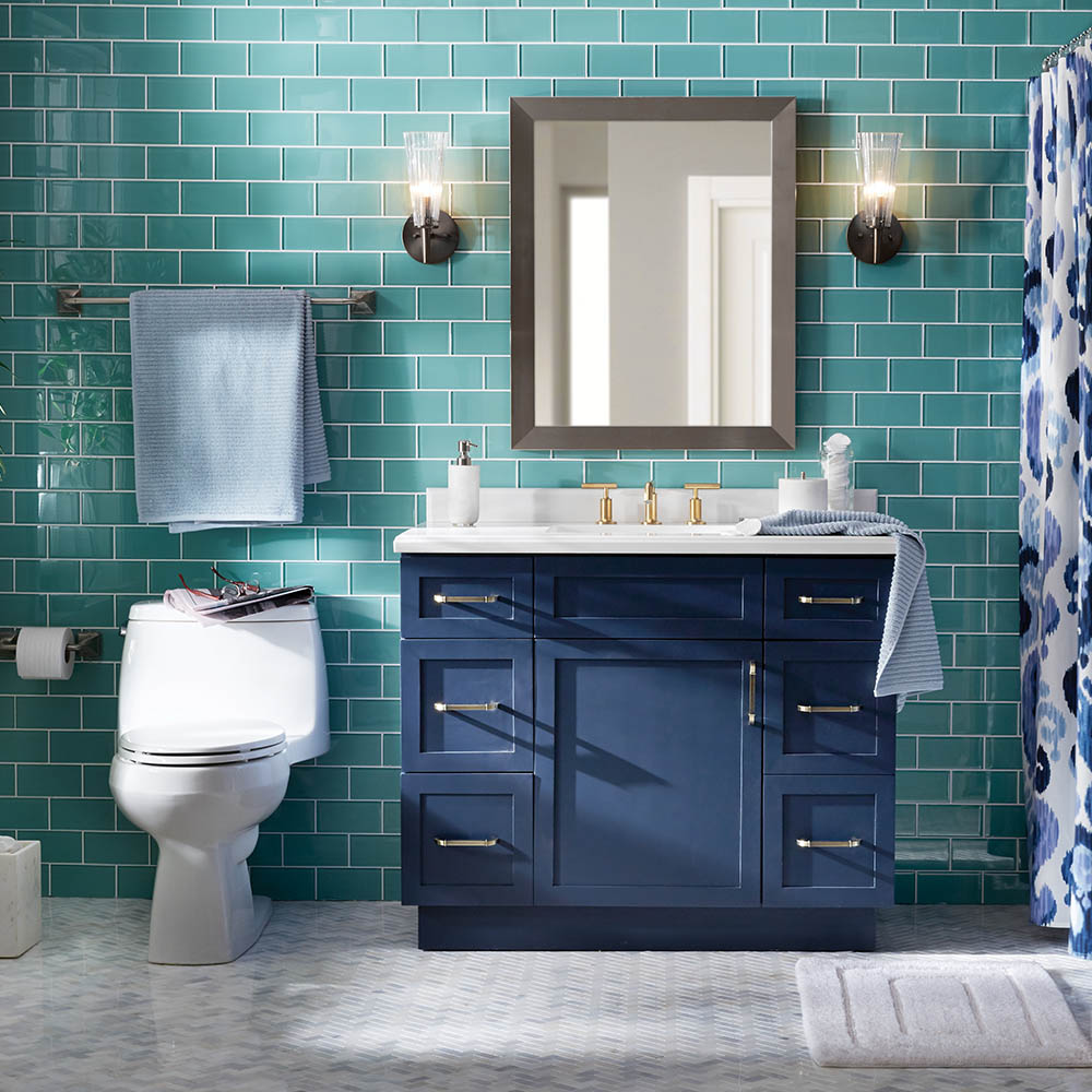 Bohemian Coastal Be Bold Bathroom