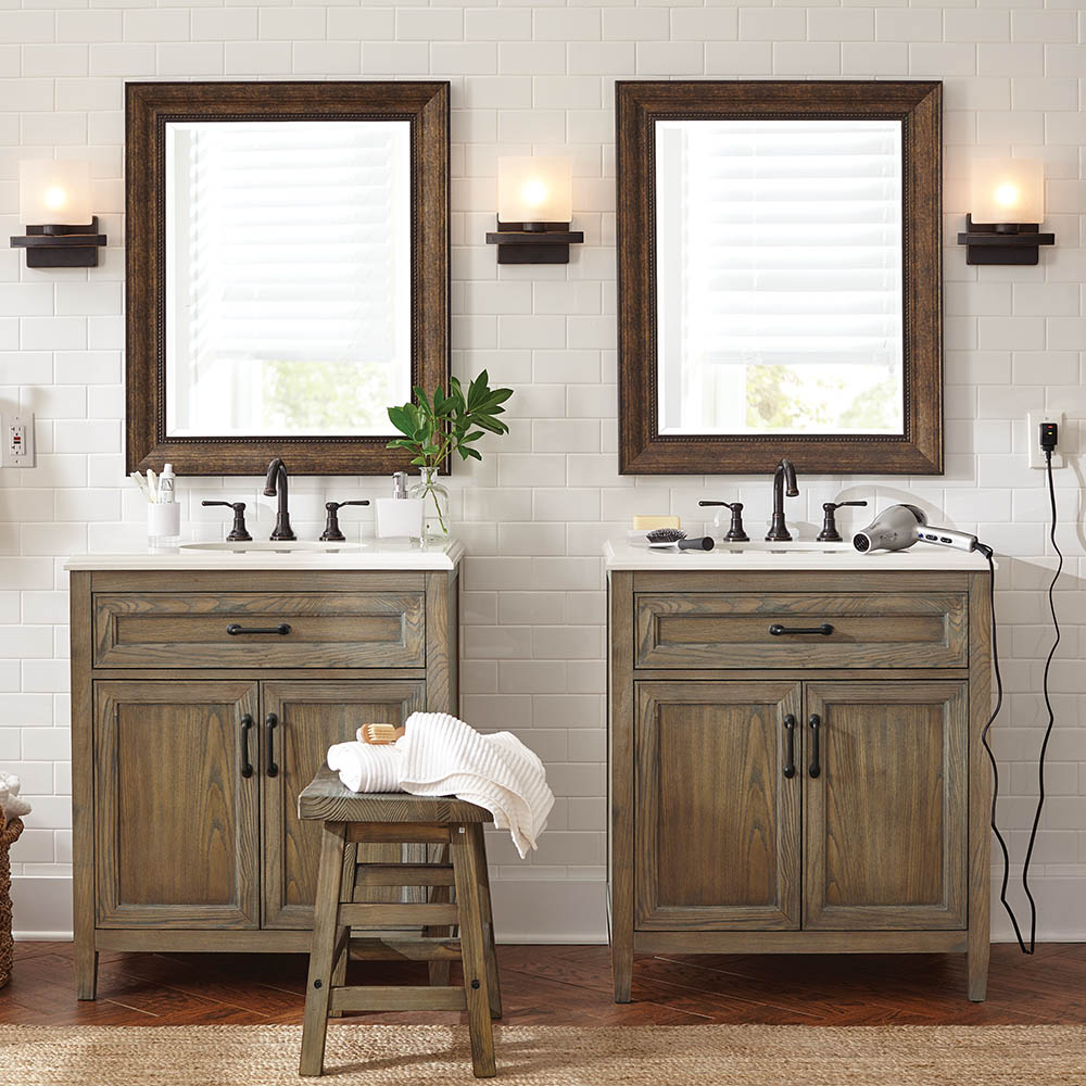 Rustic, Classic. Think Texture Bathroom