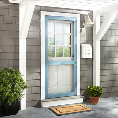 Exterior doors at the home depot for Screened front entry