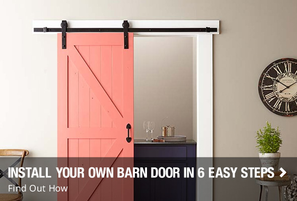Interior doors at the home depot install your own barn doors in 6 easy steps planetlyrics Images