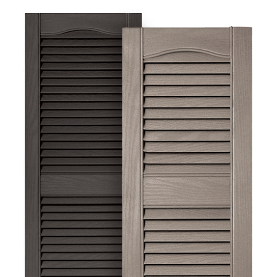 Exterior shutters the home depot - Exterior louvered window shutters ...