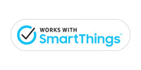 Samsung SmartThings logo link to compatible smart home devices