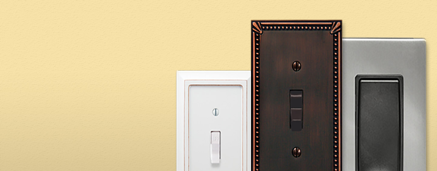 light switch plate covers metal