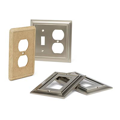electrical plug switch plate, light switch plate and combo switch plate