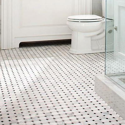sliced java pin floor tile shower pebbletileshop tan pebble s