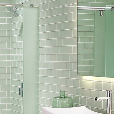 Bathroom Tile - Fake tile panels for bathroom walls