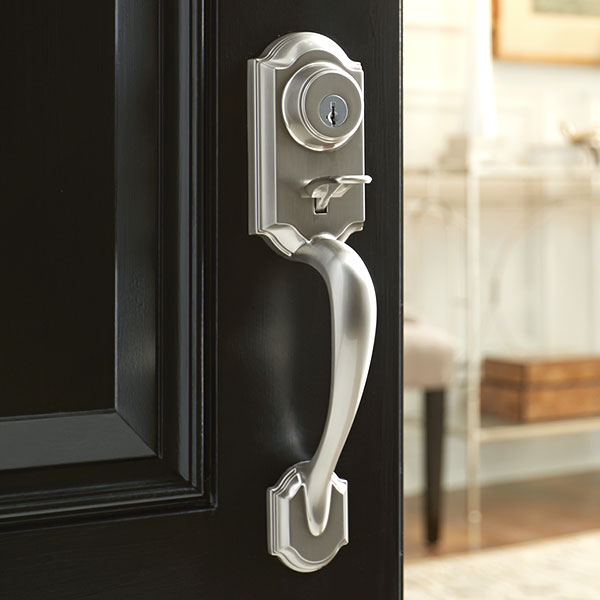Door hardware the home depot for Door handles for exterior doors