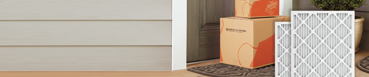 SET, FORGET & SAVE 5% off air filters purchases with The Home Depot Subscriptions free delivery service