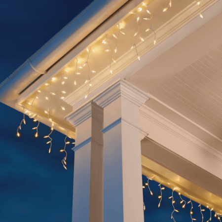 easy outside christmas lighting ideas easy icicle lights shop christmas accessories at the home depot